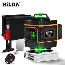 Niveau Laser HILDA 3D/4D niveau auto-nivellement 360 Horizontal et Vertical niveau Laser vert Super puissant