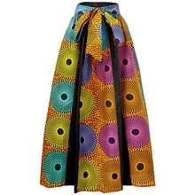 Новинка модная юбка в африканском стиле для женщин эластичная