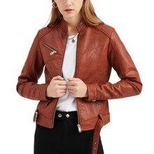 Готическая мотоциклетная куртка из искусственной кожи, женская верхняя одежда из искусственной кожи, осенние женские куртки, уличная одежд...