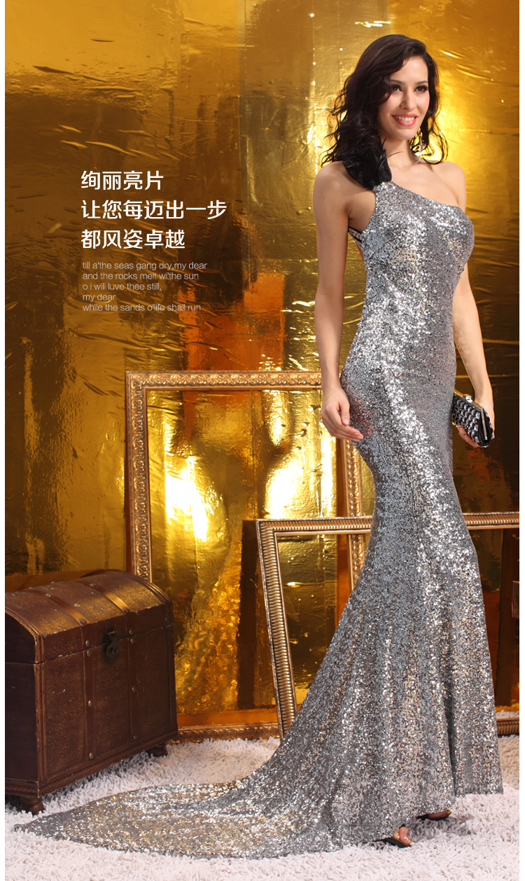 free Shipping vestido de festa party prom gown robe de soiree 2018 new hot sexy backless gold sequins long bridesmaid dresses