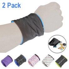 Светоотражающий карман на молнии, 2 шт., кошелек, сумка для бега, велоспорта, Карманный Кошелек, спортивные браслеты, ключи, сумка для хранени...