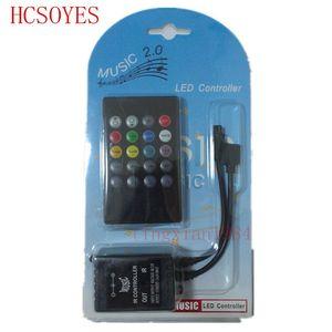 Image 5 - Музыкальный ИК контроллер с 20 клавишами, черный звуковой датчик, дистанционное управление для RGB светодиодной ленты 12В 24В для RGB 5050 3528 smd светодиодной ленты