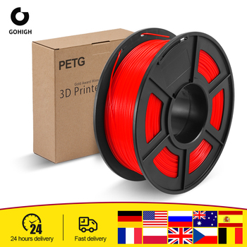 GOHIGH PETG Filament 1kg 1.75mm Diameter Tolerance +/-0.02mm 320m/Roll 100% No Bubble High Strength FDM 3D Printer Material image