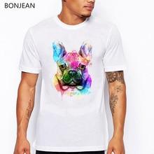 Funny French Bulldog/Boston Terrier/German Shepherd/Labrador Retriever/Chihuahua/Yorkie animal print T shirts men t-shirt tops