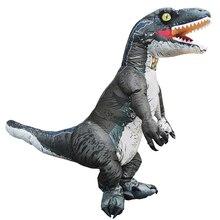 الكبار Velociraptor T ريكس ديناصور نفخ زي حفلة تأثيري حلي هالوين ازياء للرجل امرأة فستان بتصميم حالم البدلة