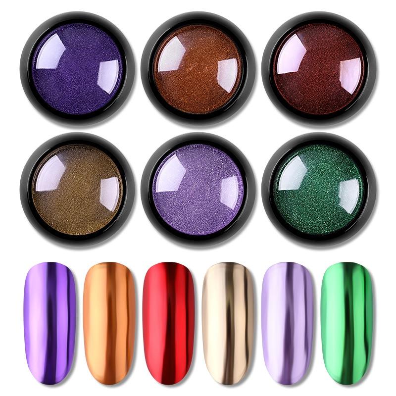 1 Box Mirror Nail Glitter Powder Gold Sliver Titanium Powder Metallic Dust Nail Art Chrome Pigment UV Gel Manicure Decoration