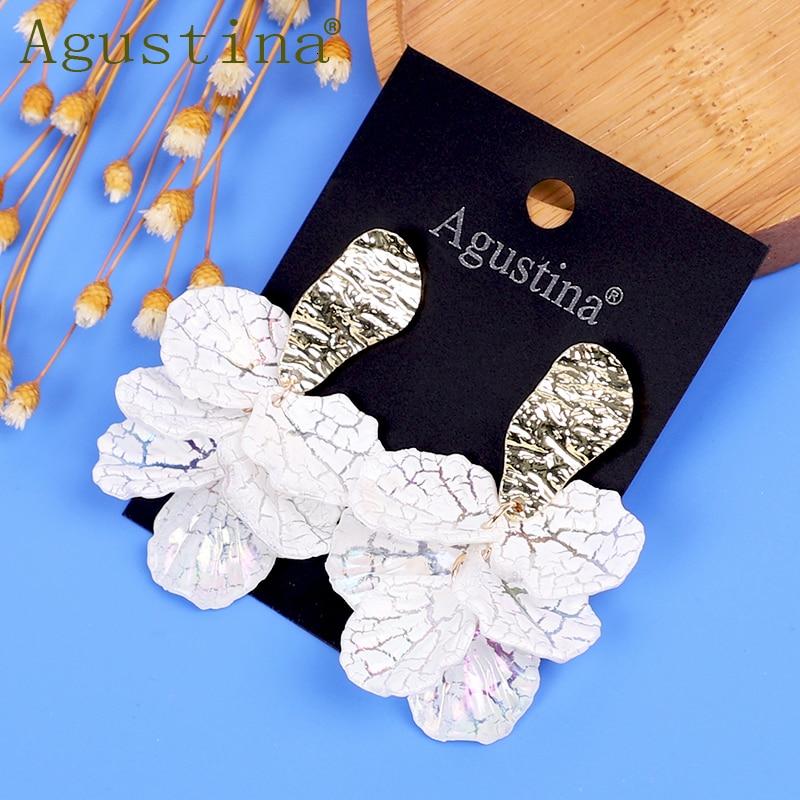 Women Flower Earrings Dangle Fashion Earrings Jewelry Girls White Small Earrings Punk Drop Earring Minimalist Earings Pendientes