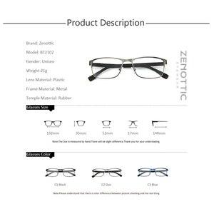 Image 5 - ZENOTTIC Alloy Progressive Prescription Glasses For Men Women Square Myopia Anti blue light Photochromic Optical Eyewear Frame