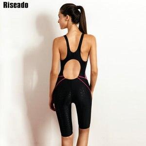 Image 2 - Riseado Sport 2019 Swimwear Women One Piece Swimsuit Swimming Suit for Women Boyleg Swim Wear Racer Back Bathing Suits
