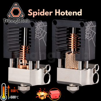 trianglelab spider Hotend Super precision 3D printer extrusion head Compatible with mosquito Hotend adapter TITAN BMG EXTRUDER mellow all metal nf crazy hotend v6 copper nozzle for ender 3 cr10 prusa i3 mk3s alfawise titan bmg extruder 3d printer parts