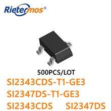 500 piezas SI2343CDS SI2347DS SI2343CDS T1 GE3 SI2347DS T1 GE3 SI2343 SI2347 SOT23 PMOS 30V