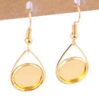 onwear 20pcs gold plated cabochon 12mm base settings diy bezel blanks for earrings making supplies