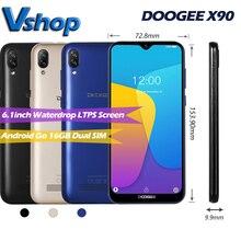 """DOOGEE X90 3G Smartphone 1GB + 16GB Telefono Cellulare Waterdrop Dello Schermo di 6.1 """"Display 3400mAh Viso sbloccare Dual SIM 8MP + 5MP WCDMA del Android Go"""
