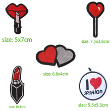 LOVE Clothing Patches Iron on Stripes for Badges Stickers Clothes Hearts Embroidery Appliques