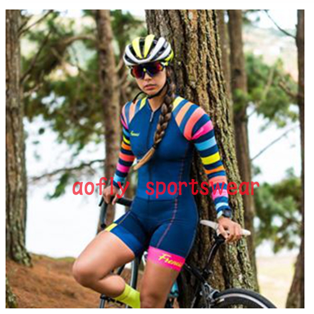 20 cores das mulheres longo mangas compridas skinssuit go pro equipe de ciclismo macacão pro equipe irmã triathlon roadbike mtb roupas verão macaquinho ciclismo feminino manga longa roupas com frete gratis macacao 2