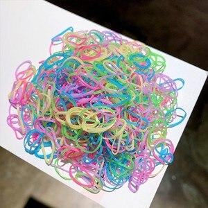Резинки для волос 1000 шт./лот для девочек, детская цветная резинка для волос, тюрбан, эластичная резинка, пакет, Прозрачные резинки для волос, аксессуары для волос| |   | АлиЭкспресс