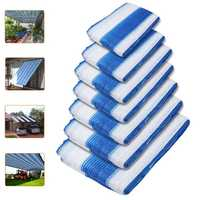 White And Blue Outdoor Multi sized Garden Sun Shade Sunshade Sail Cloth Rectangle Square Garden Patio Tent Canopy Awning