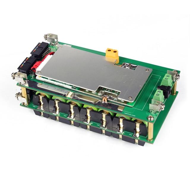 52 فولت 14 ثانية الطاقة الجدار 18650 بطارية حزمة 14S BMS ليثيوم أيون 18650 حامل البطارية BMS PCB لتقوم بها بنفسك Ebike بطارية 14S صندوق بطارية