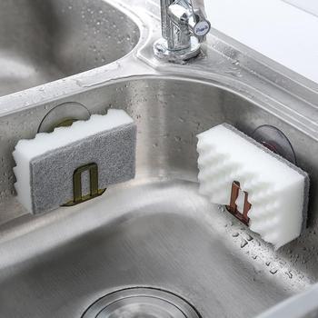 Cocina ventosa rejilla para escurrir para fregadero esponja soporte de almacenamiento de cocina fregadero jabonera escurridor estante accesorios de baño organizador