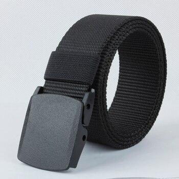 LTOHEYN 3.8cm Plastic Buckle Belt Outdoor Training Metal-free Hypoallergenic Nylon Belt Length Can B