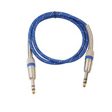 1.8m Professional Stereo Male To Male Audio Cable Blue Transmission Speed To Support Multi-Device Data Transmission