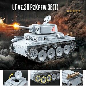 Image 5 - Nuevo Modelo de 535 Uds. De tanque de bloques de construcción militar WW2, militar, militar, soldado, armas, Juguetes