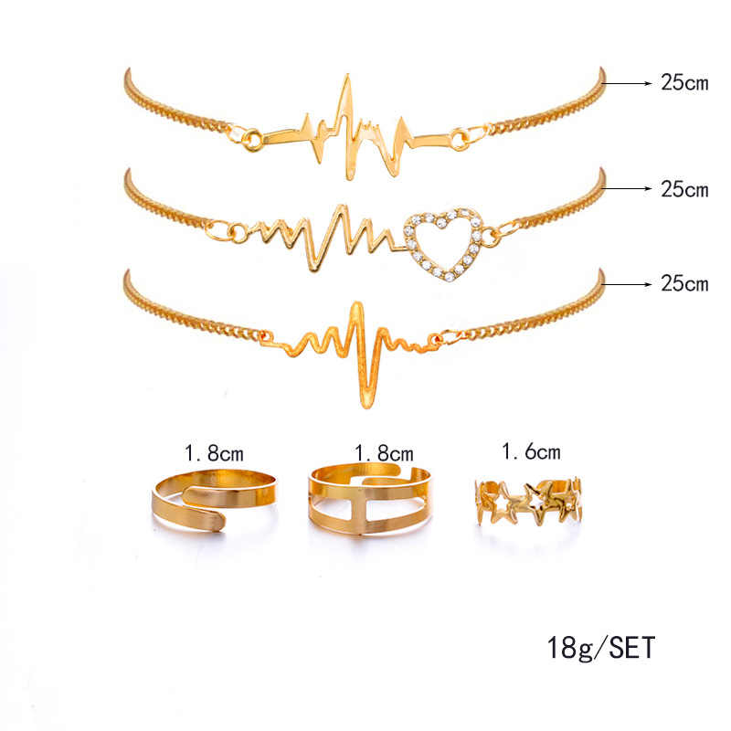 Gold Color Bracelets & Bangles Trendy Hollow Heart Shape Chain Bracelet For Women Men Jewelry Bijoux Pulseira Masculina