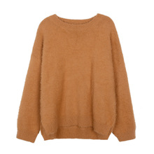 Loose Womens New Arrival Sweaters Solid Casual Kni