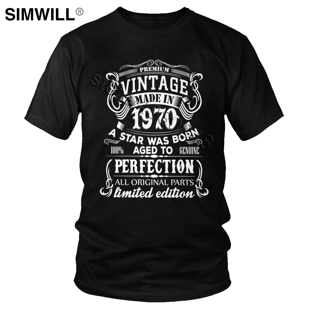 Vintage Made In 1970 50 Years Old T Shirt Men 100% Cotton T-Shirt Short Sleeve 50th Birthday Gift Tee Born In 1970 Tshirt Tops