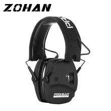 Zohan tiro eletrônico muffs orelha proteção da orelha redução de ruído amplificação som profissional para a caça defender nrr22