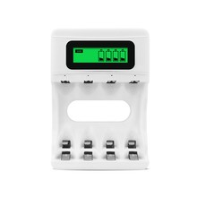 ABKT-4 Slots Led Screen Battery Charger Usb Smart Rechargeable for Aa/Aaa Ni-Mh/Ni-Cd(China)
