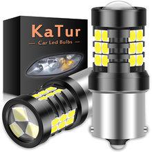 2 adet BA15S P21W 7506 1156 LED Canbus ampuller hiçbir hata Led yedekleme ters araba ışıkları ön arka ışıkları 21SMD 3030 6500K beyaz 12V
