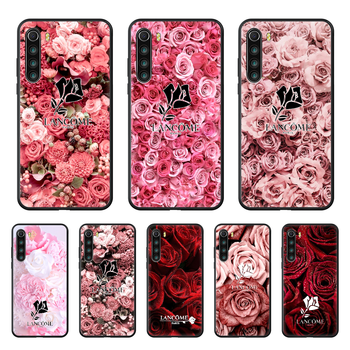 French Cosmetics Lancome Rose Phone case For Xiaomi Redmi Note 8T 8 9 7 7A 8 8A 4 5 9S Pro black hoesjes fashion shell art image