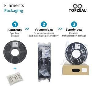 Image 4 - TOPZEAL di Alta Qualità PLA/ABS/PETG/TPU/Nylon 3D Stampante Filamento 1.75 millimetri Bobina e 10M * 10 Colori Del Campione per 3D Materiali di Stampa