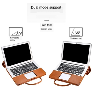 Image 3 - רב להשתמש 13 אינץ תיק מחשב נייד עבור ה macbook Air 13 עור מפוצל 12, 13.3, 15.4 אינץ מחשב נייד מקרה עבור MacBook Pro 13 PU נייד תיק
