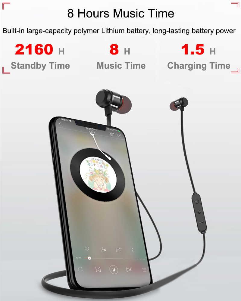 磁気ワイヤレス Bluetooth イヤホンステレオスポーツ Sweatproof ための iphone 用マイクとイヤフォンワイヤレスインイヤーヘッドセット