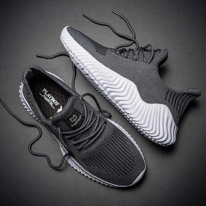 2019 дышащая летняя обувь, мужские повседневные модные кроссовки, сетчатый светильник, Спортивная мужская обувь, большой размер 13, белый цвет
