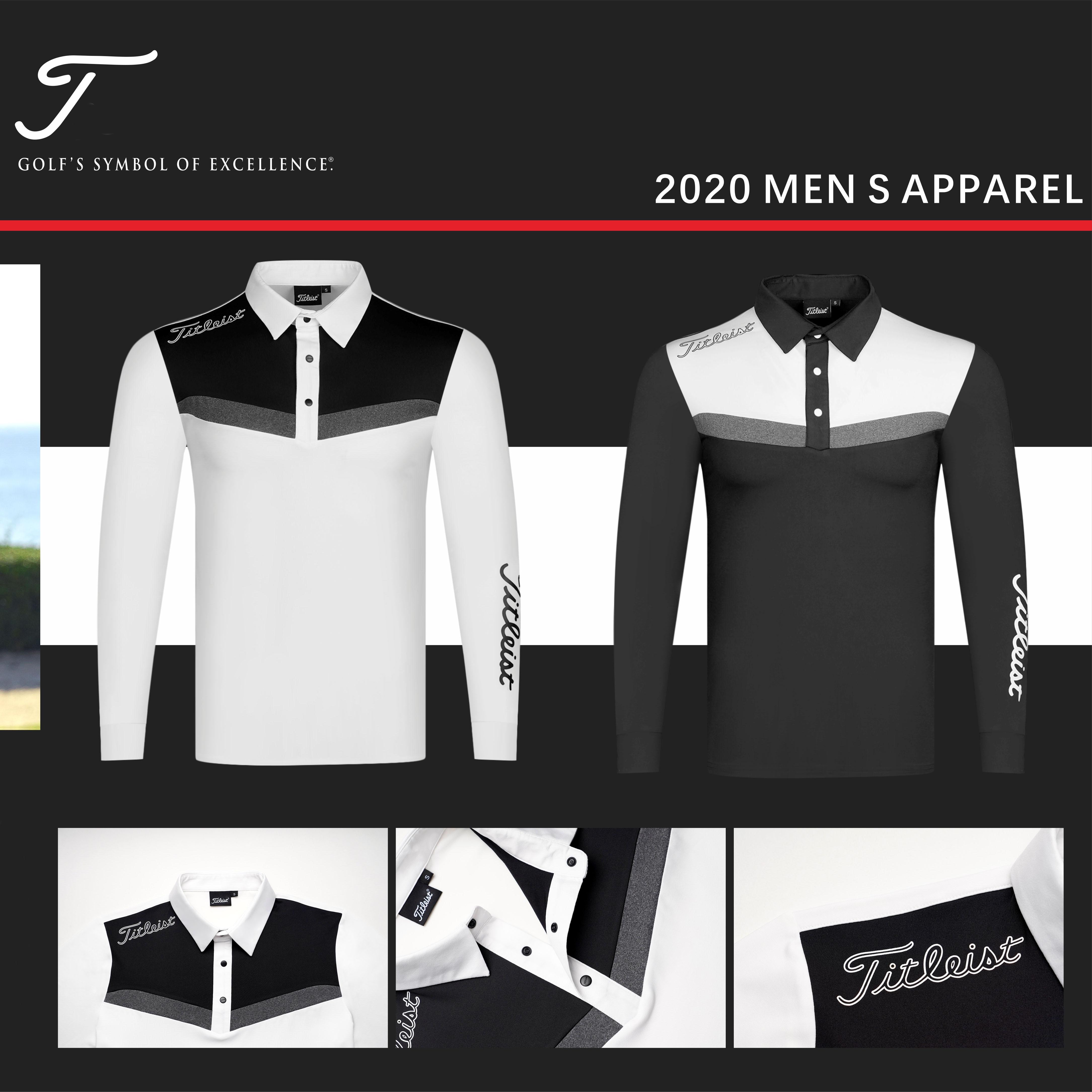 2020 otoño nueva ropa hombres golf Polo-shirt deportes golf manga larga