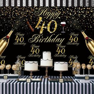 Image 5 - Huian ouro preto balões 30 40 50 anos aplausos para 30 anos balões aniversário 40 anos 50 anos festa decoração suprimentos