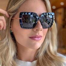 Unique Black Square 3D Sunglasses Women Luxury Brand Vintage