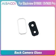 AiBaoQi Marke Neue Hinten Kamera Glas Objektiv Für Blackview BV9600 Pro Zurück Kamera Dekoration Rahmen Ersatz Zubehör Teile