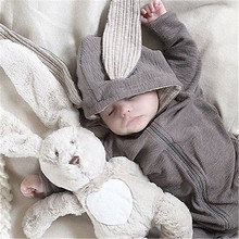 2019 Toddler Baby Girl Clothes Boy Jumpsuits 3D Ear Bunny Rabbit Romper Hooded Outfit Clothing