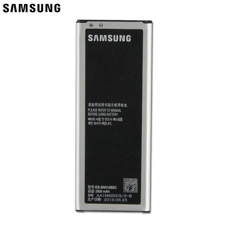 Samsung Original Replacement <font><b>Battery</b></font> EB-BN916BBC For Samsung GALAXY NOTE4 N9100 N9106W <font><b>NOTE</b></font> <font><b>4</b></font> N9108V N9109V with NFC <font><b>3000mAh</b></font> image