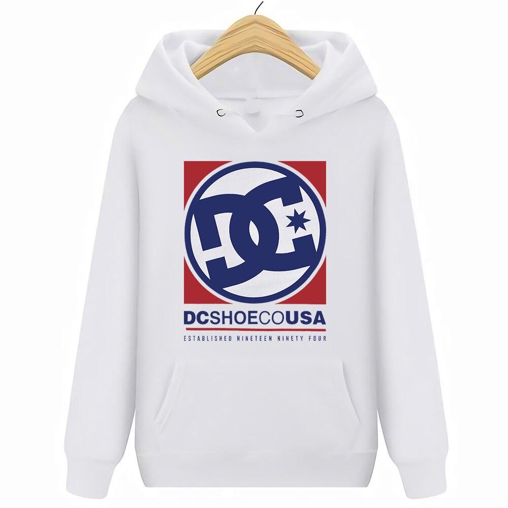 Harajuku Dc Shoe Co Usa Streetwear Hoodies Sweatshirts Casual Print