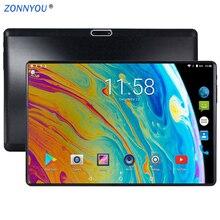 2.5D стальной экран 10,1 дюймов планшетный ПК Android 7,0 Восьмиядерный 3G звонок 4 Гб ram 64 Гб rom двойной Wi-Fi Bluetooth планшетный ПК