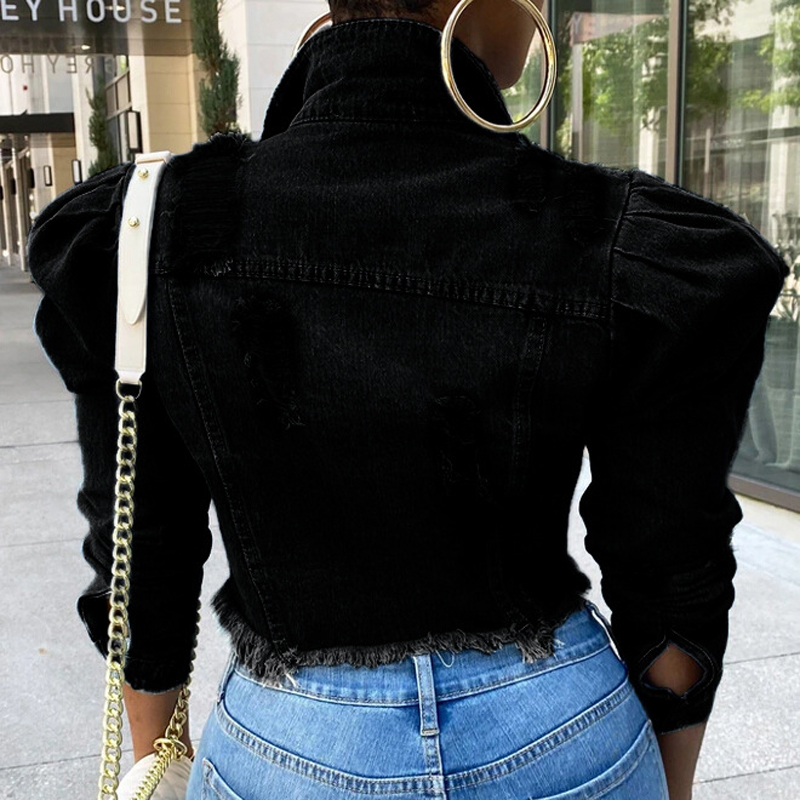 Sexy Ripped Denim Jackets for Women 6