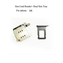 Dual Sim Card Reader connector Flex Cable + Sim Card Tray Slot Holder For iPhone XR