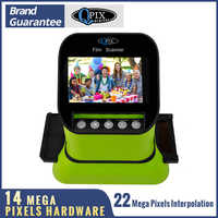"""High Resolution 22 Mega pixels 120 Slide Film Scanner 35mm Negative Photo Scanner Digital 135 126KPK Film Converter 4.3""""LCD"""