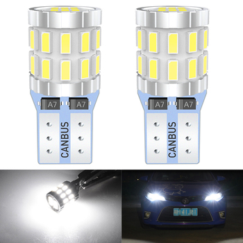 W5W LED T10 LED 12V Bulbs Canbus For Car Parking Position Lights Interior Map Dome Light For Audi A3 8P A4 6B BMW E60 E90 white image