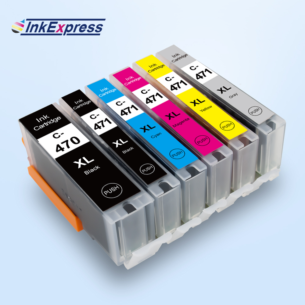 Чернильный картридж InkExpress для Canon PGI 470XL CLI 471XL, чернильный картридж для принтеров Canon PIXMA MG5740 MG6840 MG7740 TS5040 TS6040